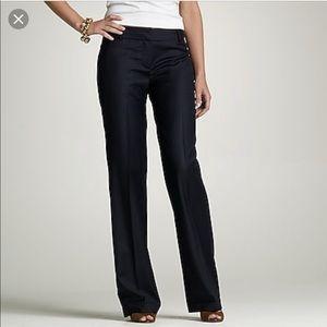 J Crew Navy Pinstripe Wool Blend City Fit Pants 6